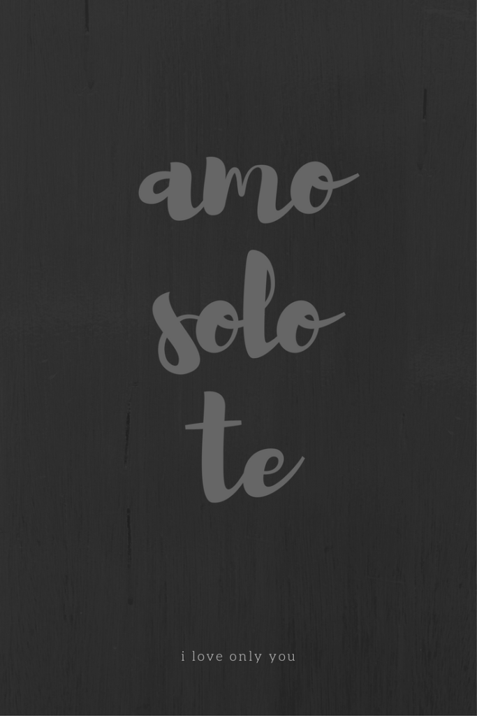 Frasi d'amore, amo solo te, by Via Optimae, www.viaoptimae.com