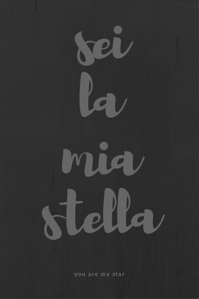 Frasi d'amore, sei la mia stella, by Via Optimae, www.viaoptimae.com