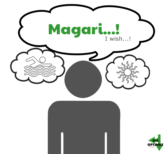 Magari! - I wish!